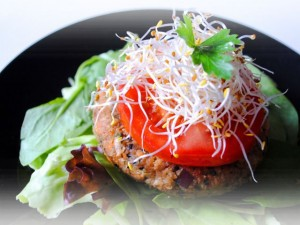 Burger raw vegan fara nuci